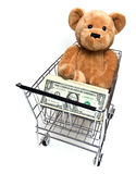 Saving Money on Teddy Royalty Free Stock Photos