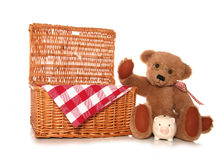 Saving money on a teddy bears picnic party. Cutout Royalty Free Stock Photo