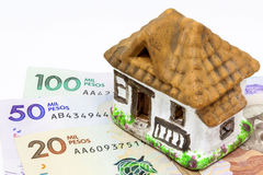 Saving money to buy a house stock photography