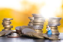 Saving money trade Stock Image