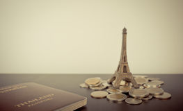 Saving Money for Vacation in Paris Royalty Free Stock Images