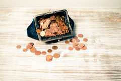 Saving Money. A wallet full of cash Royalty Free Stock Images