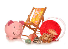 Saving money on your summer holidays Royalty Free Stock Photo
