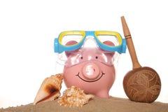 Saving money on your summer holidays Royalty Free Stock Image