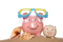 Saving money on your summer holidays Royalty Free Stock Photo