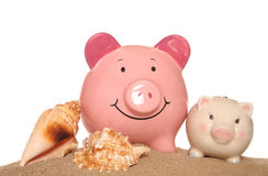 Saving money on your summer holidays Royalty Free Stock Images