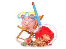 Saving money on your summer holidays. Cutout Stock Image