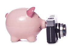 Saving for a new camera cutout Stock Image