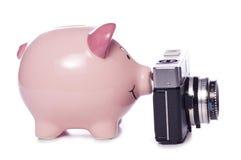 Saving for a new camera cutout Stock Image