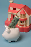 Saving for a new home. Saving money for building a house Stock Images