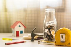 Saving for new home concept royalty free stock image