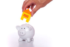 Saving for a new house Stock Images