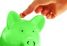 Saving pennies Stock Photo