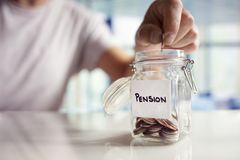 Saving and pension planning Royalty Free Stock Photography