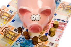 Saving pig Royalty Free Stock Photography
