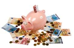 Saving pig Royalty Free Stock Images