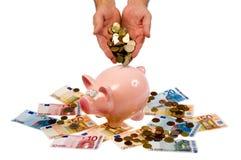 Saving pig Royalty Free Stock Photo