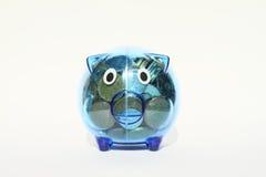 Saving pig full of money Royalty Free Stock Photography