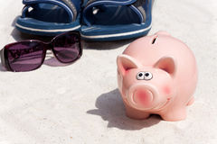 Saving with the Piggy Bank Stock Photos