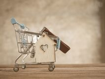 Saving plan for residence of people in society Royalty Free Stock Photos