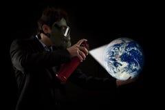 Saving the planet stock photo