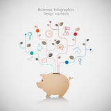 Saving planning business Infographic. Illustration Royalty Free Stock Images