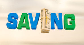Saving: possible logo. Stock Photography