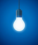 Saving power Shining Electric bulb Stock Photo