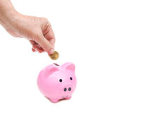 Saving for retirement concept Royalty Free Stock Image