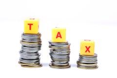 Saving tax Stock Image