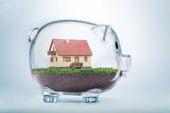 Saving To Buy A House Or Home Savings Concept Royalty Free Stock Photo