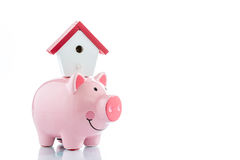 Saving to buy a house Royalty Free Stock Images