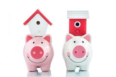 Saving to buy a house Royalty Free Stock Photography
