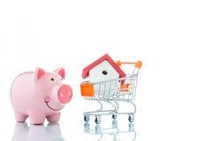 Saving to buy a house Stock Image