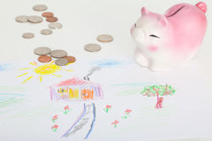 Saving to buy a house Royalty Free Stock Image