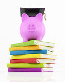 Saving to university Stock Photo