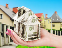 Saving up money for a new house Royalty Free Stock Photography
