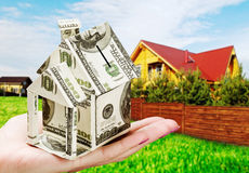 Saving up money for a new house Royalty Free Stock Images
