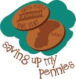 Saving Up My Pennies Stock Photo