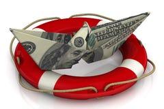 Saving the US economy Royalty Free Stock Photography