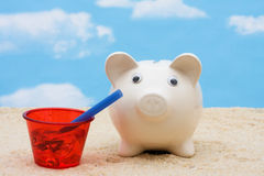 Saving for Vacation royalty free stock photos