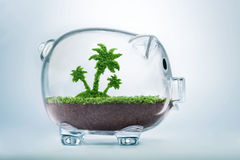 Saving for vacation concept Royalty Free Stock Photo