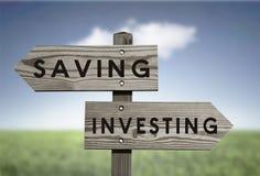 Saving Vs Investing Royalty Free Stock Photos