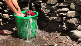 Saving Water Rural. Saving water. Problem of water shortage stock video
