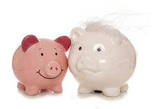 Saving for a wedding piggybanks Royalty Free Stock Photography