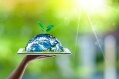 Saving world Ecology concept. Elements of this image furnished by NASA royalty free stock photo