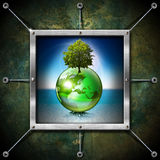 Saving World Frame - Ecology Concept Royalty Free Stock Image