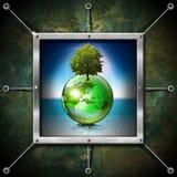 Saving World Frame - Ecology Concept Royalty Free Stock Image