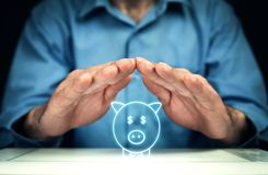 Saving your money. Business concept royalty free stock image