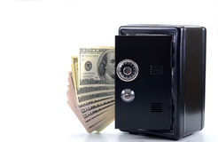 Steel safe with money , money saving concept Stock Image